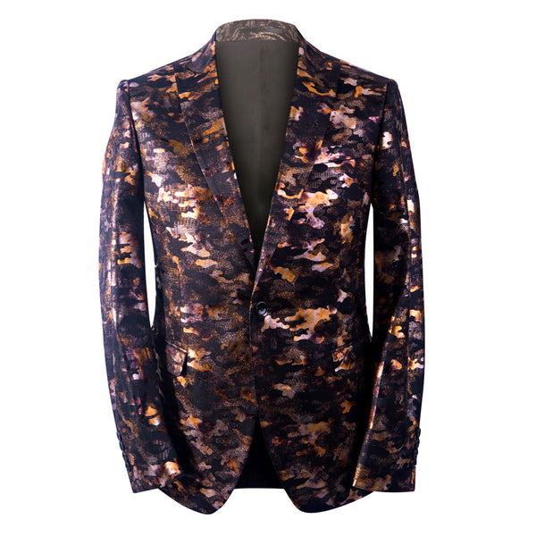 Gold Illuminated Men's Jacquard Blazer