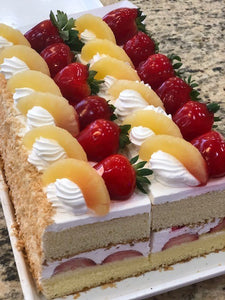 Strawberry/Pineapple Cake Slices