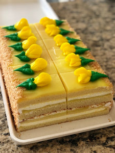 Lemon Cake Slice