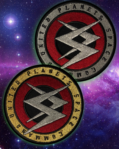 Space Command Commanders Patch - Silver & Gold