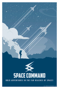 "Retro - Space Command Poster 11""x17"""