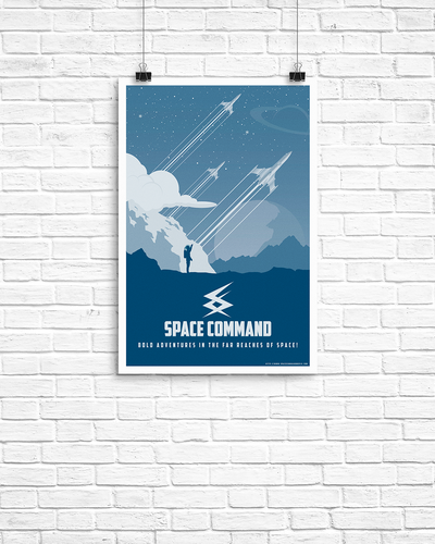 Retro - Space Command Poster 11