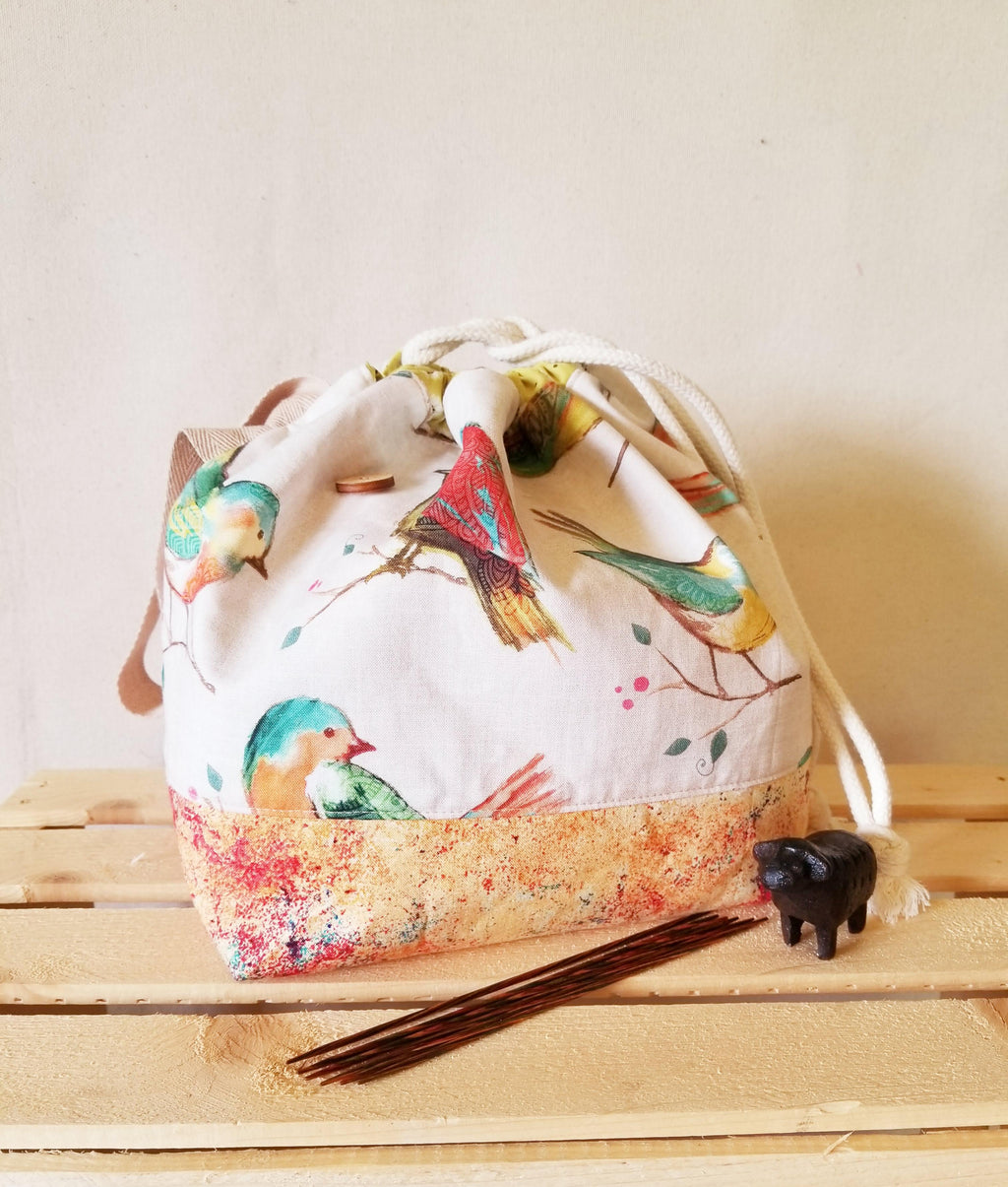 Birds of a Feather - Finch bucket Bag