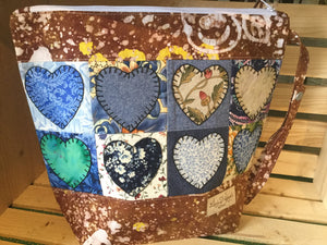 Crazy for Hearts - Brown Pouch