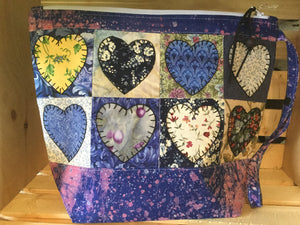Crazy for Hearts - Blue Pouch