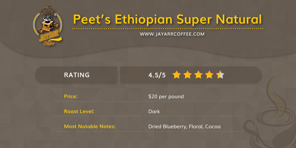 Peets Ethiopian Super Natural Review