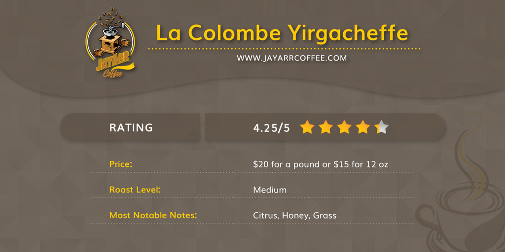 La Colombe Yirgacheffe Review