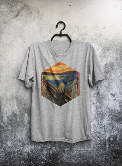 "Scream Shirt (Features Edward Munch's ""The Scream"") - JayArr Coffee"