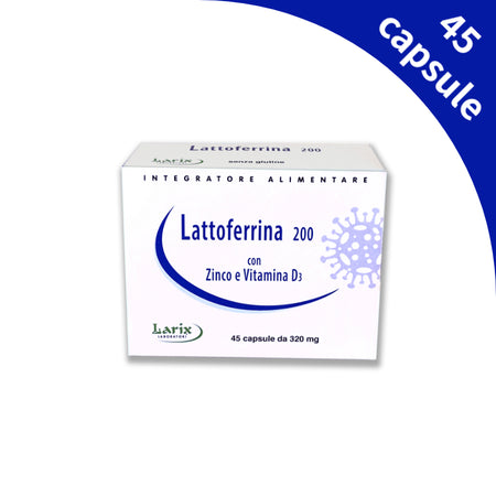 Lattoferrina 200 45Cps da 320mg con Zinco e Vitamina D3 - Lattebebeonline.com
