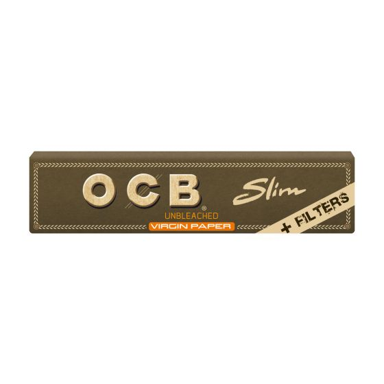 OCB Slim Virgin Unbleached + Filter (32) - Viweedy CBD Store