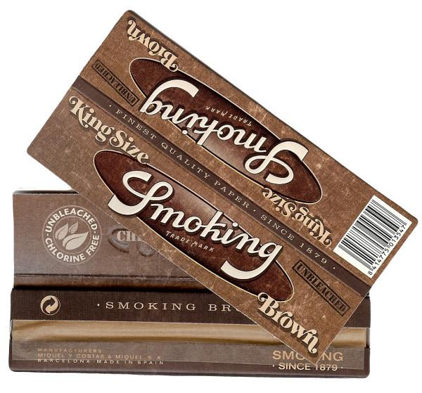Smoking - Brown Kingsize Slim - Viweedy CBD Store
