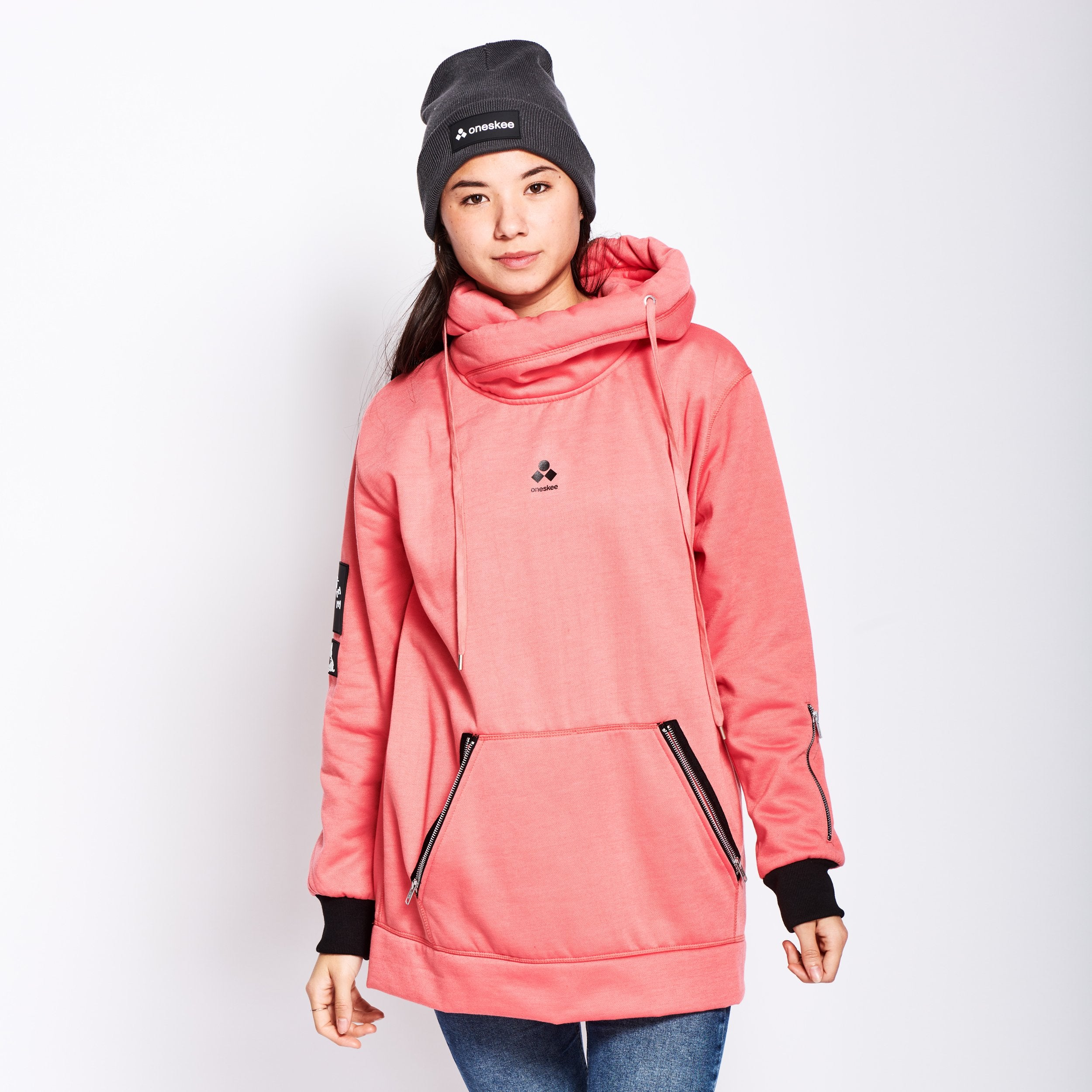 Women's Technical X-Neck Hoodie  - Pink image 5