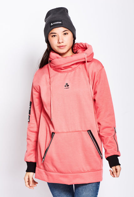 Women's Technical X-Neck Hoodie  - Pink