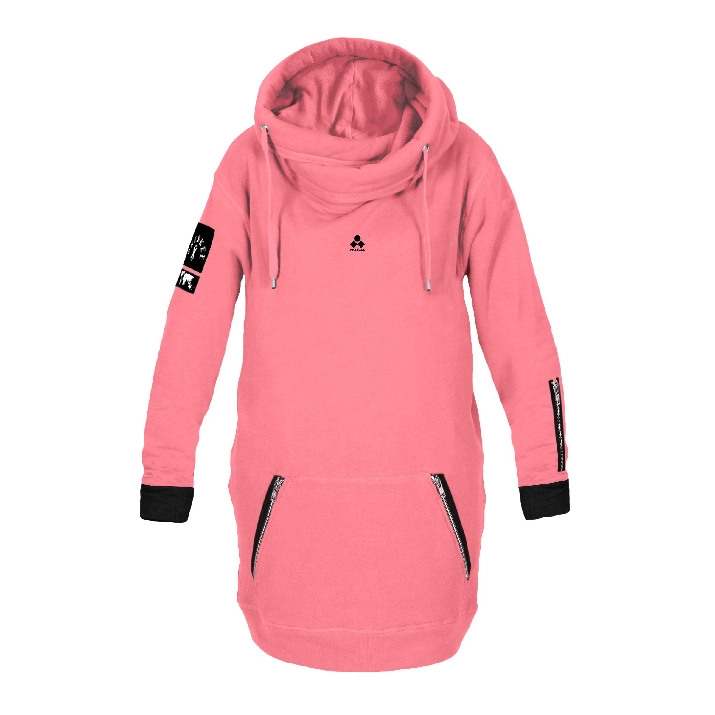 Women's Technical X-Neck Hoodie  - Pink image 4