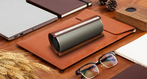 Leather Circular Bluetooth Speaker