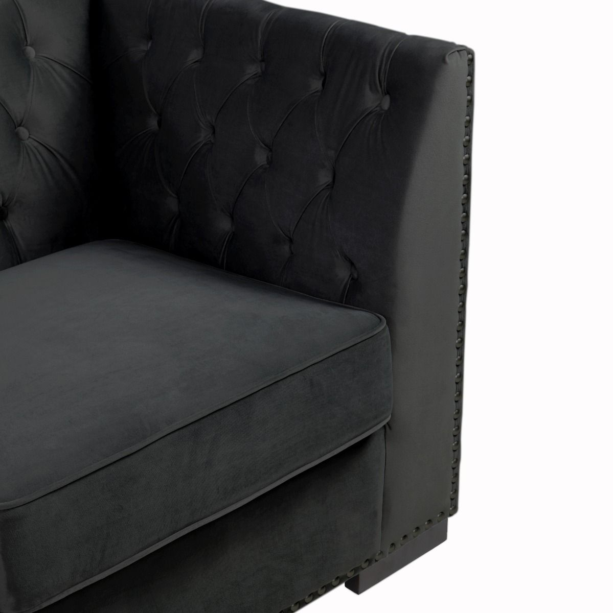 Chesterfield 2 Seater Sofa - Black