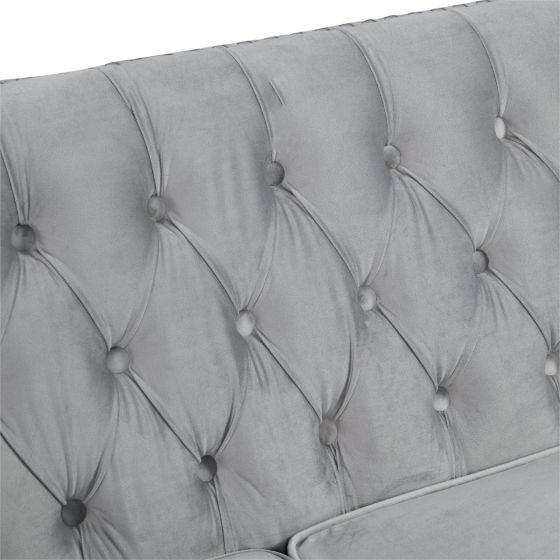 Chesterfield 2 Seater Sofa - Grey