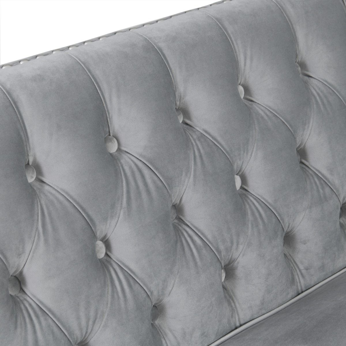 Chesterfield 3 Seater Sofa - Grey