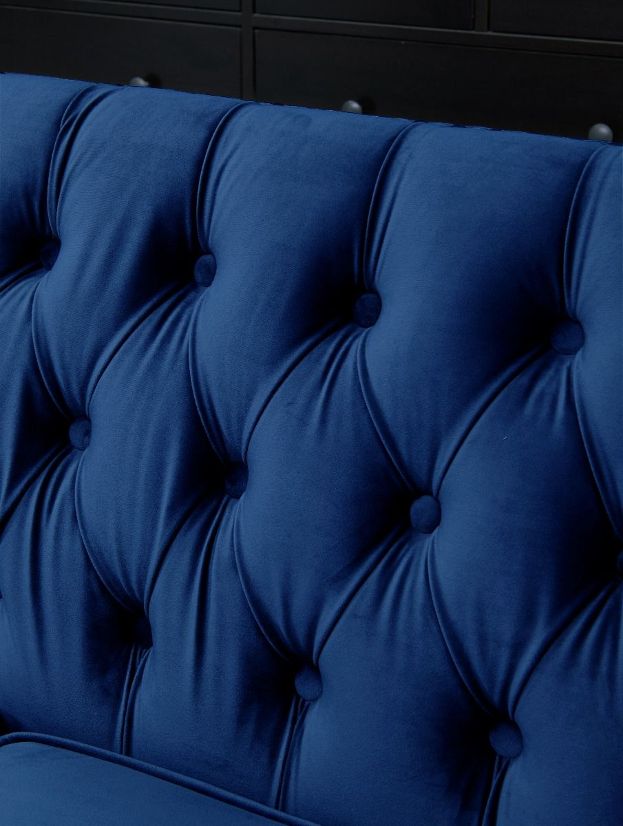 Chesterfield 2 Seater Sofa - Royal Blue
