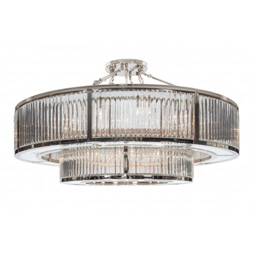 Garnet Two Tier Chandelier in Nickel