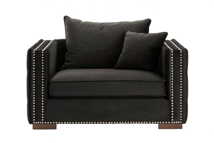 Moscow Snuggle Chair - Black