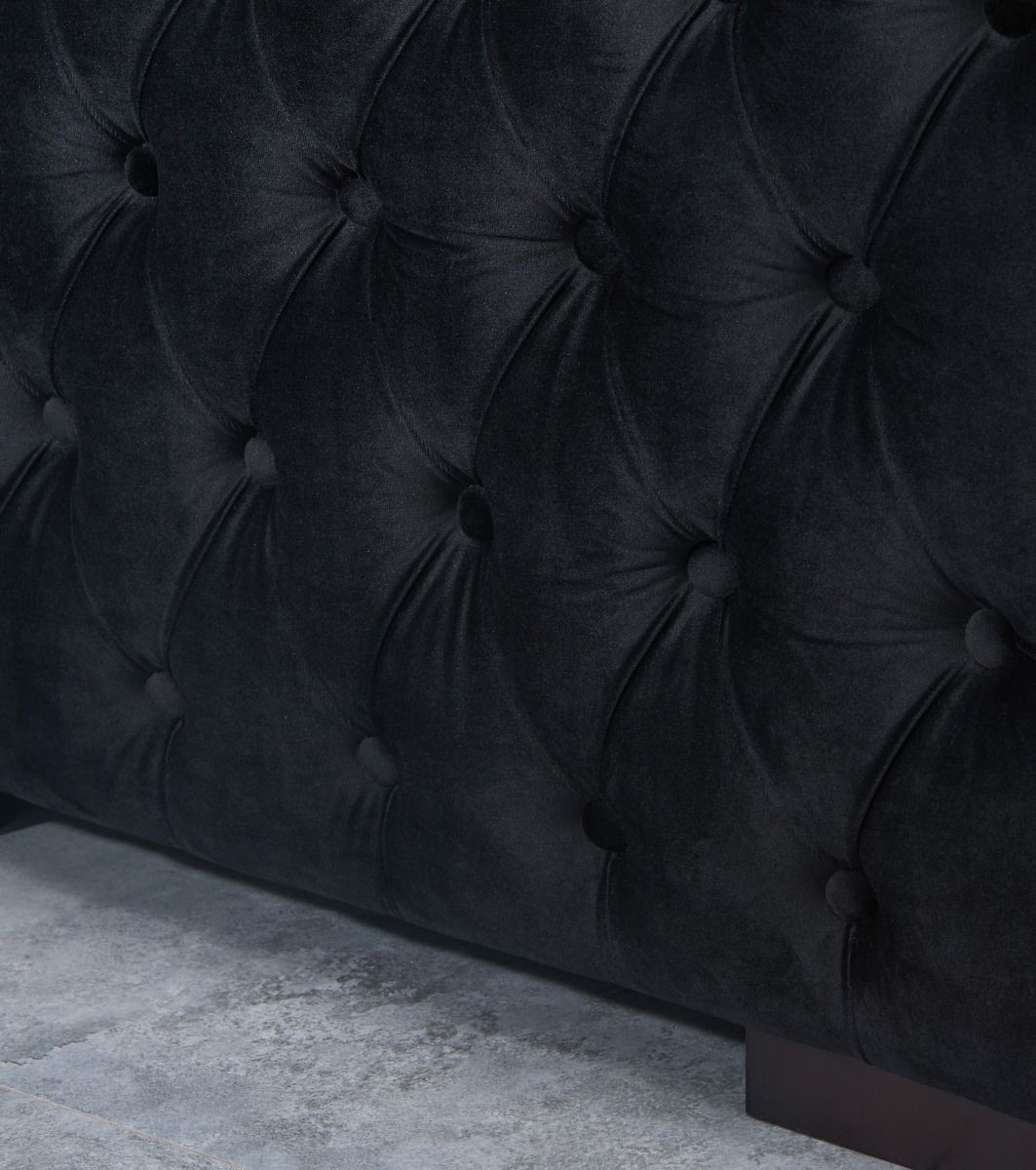 Moscow 3 Seater Sofa - Black
