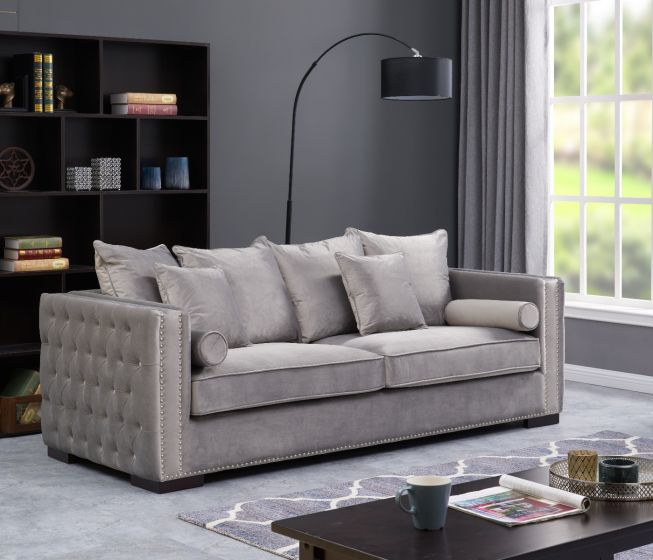 Moscow 3 Seater Sofa - Silver