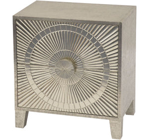 Coco Embossed Metal 2 Drawer Bedside Table