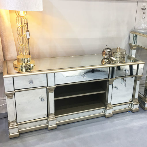 Capri Champagne Mirror Entertainment Unit