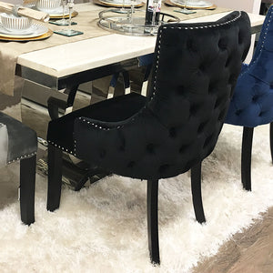Coco Black Tufted Back Dining Chair