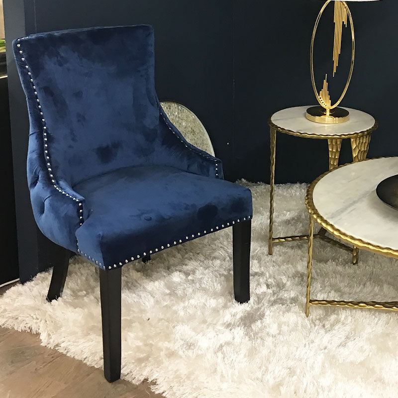 Coco Blue Tufted Back Dining Chair