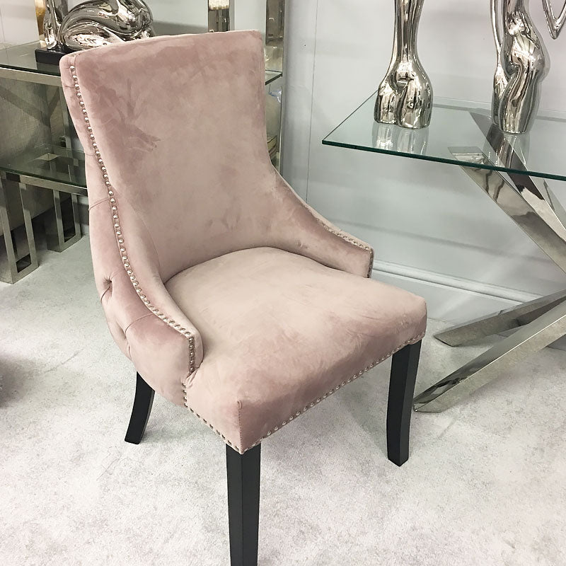 Coco Blush Pink Tufted Back Dining Chair