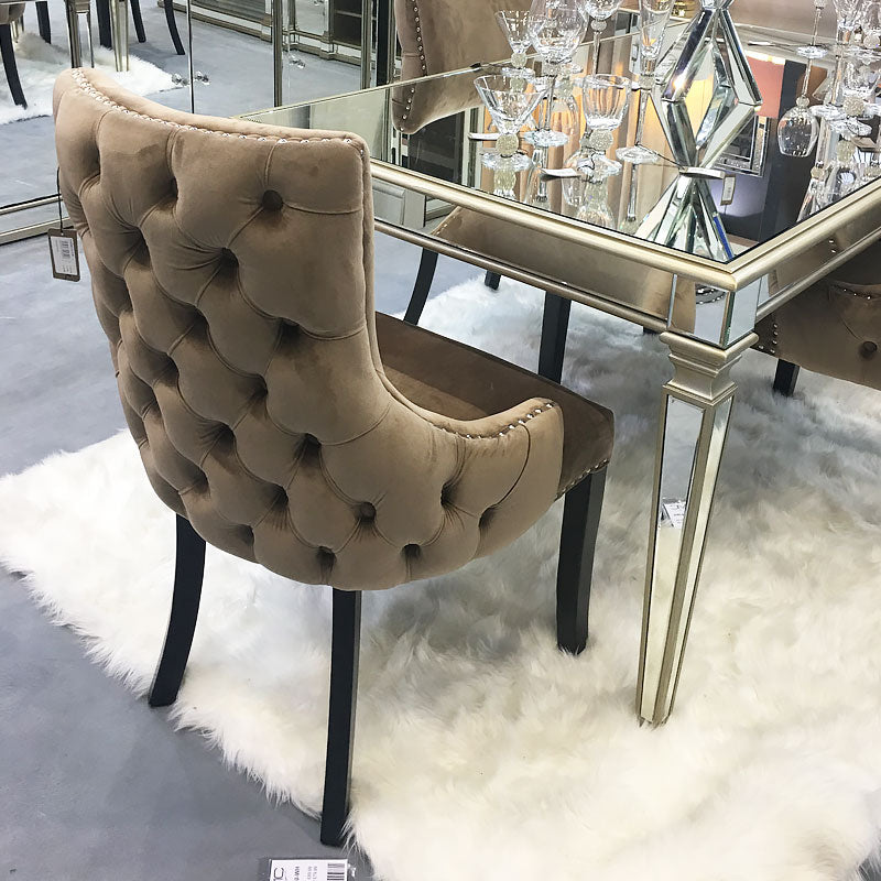 Coco Champagne Tufted Back Dining Chair
