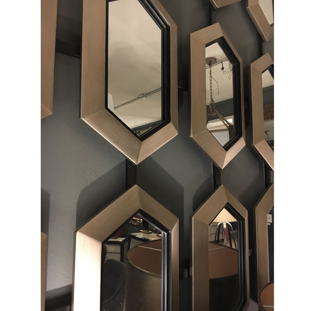 Champagne Silver Leaf Section Mirror