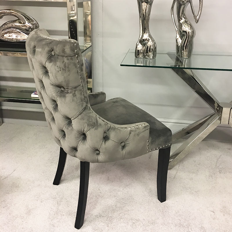 Coco Grey Tufted Back Dining Chair