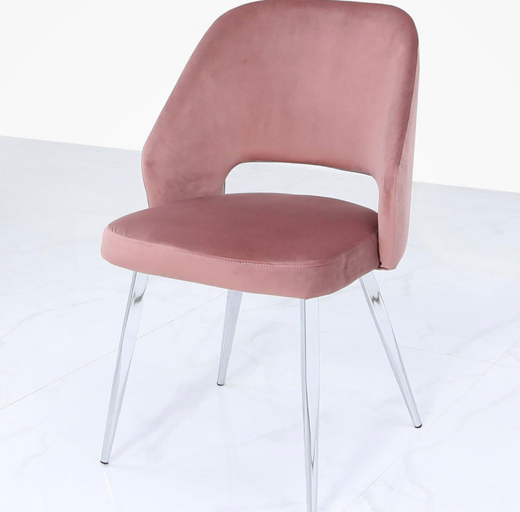 Aurora Blush Pink Dining Chair