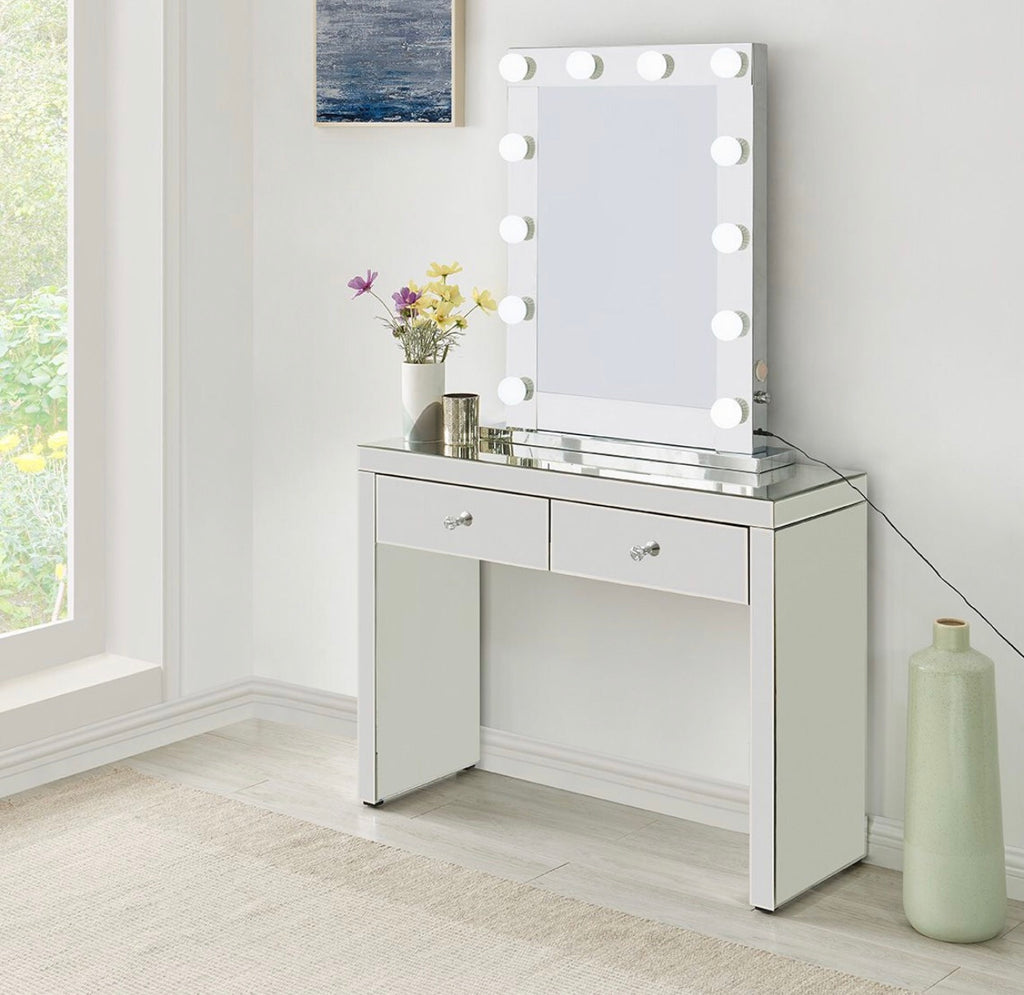 Hollywood Mirror and Console - Mirrored