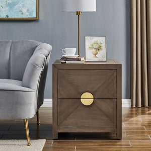 Valenza 2 Drawer Side Table