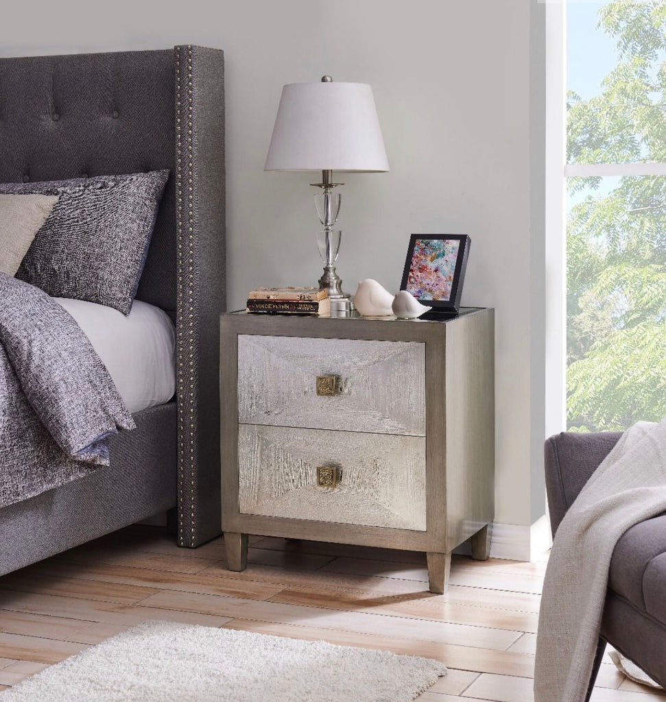 Nuvo 2 Drawer Bedside Table