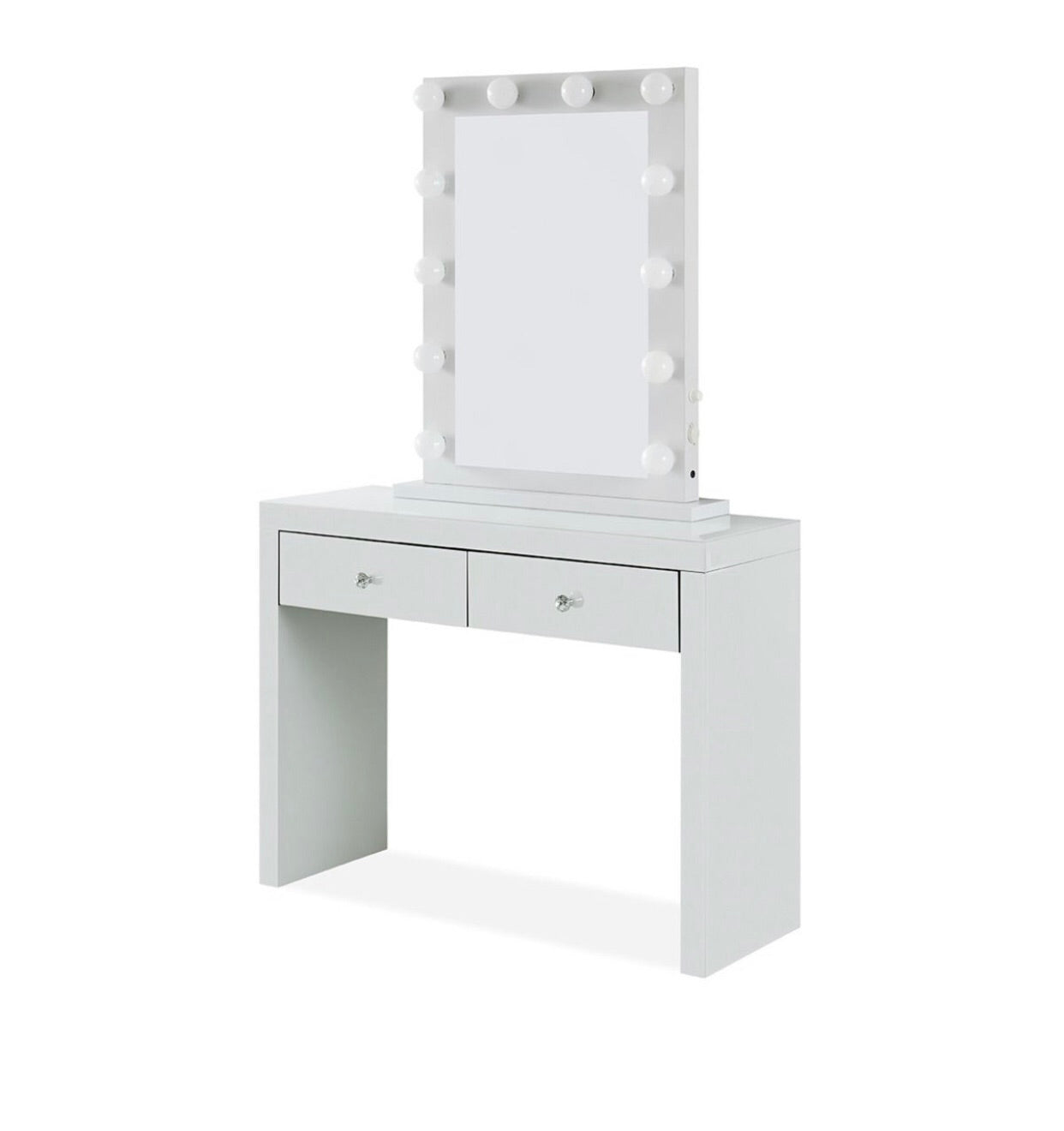 Hollywood Mirror and Console - White