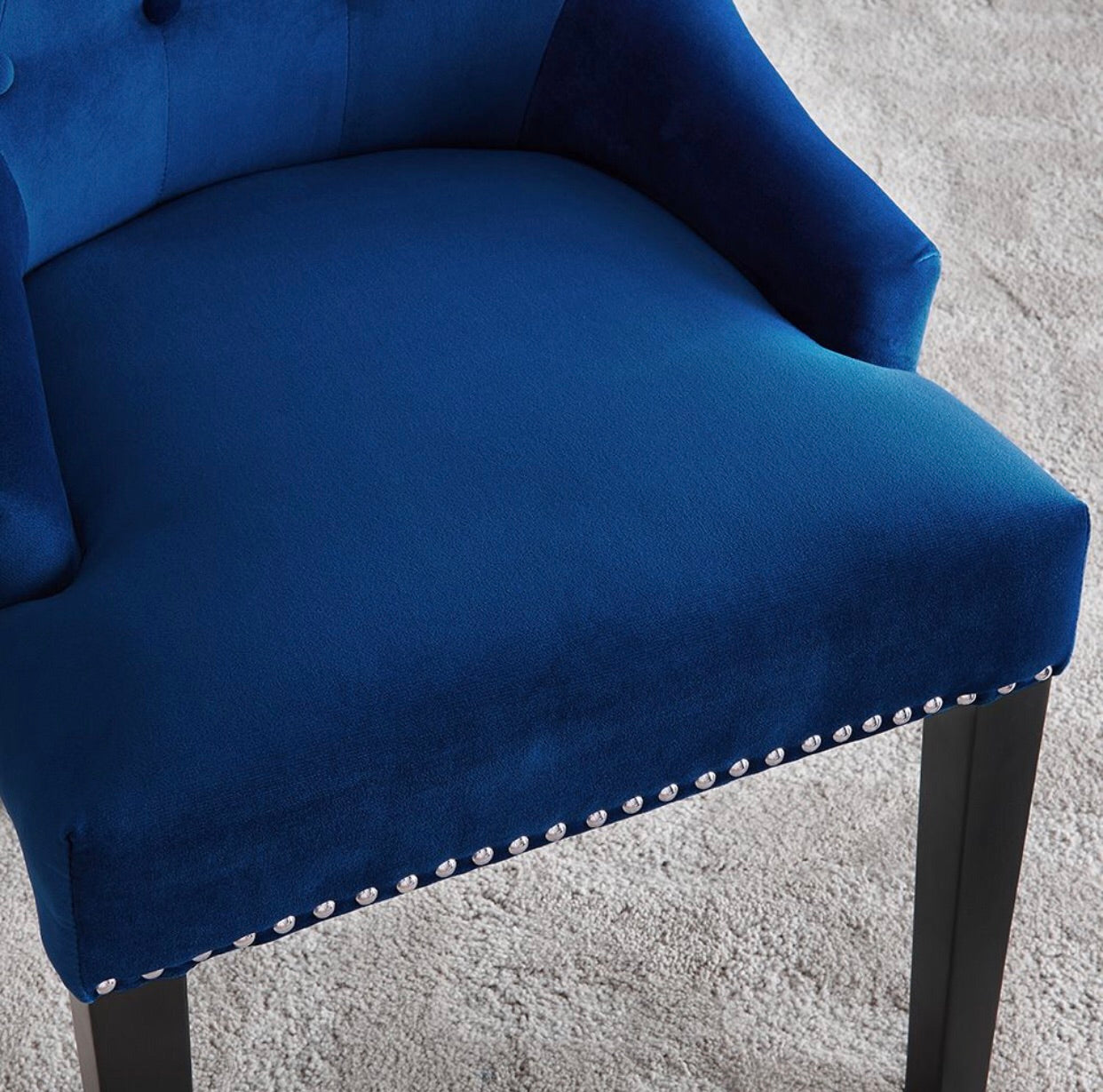 Lion Knocker Dining Chair - Royal Blue