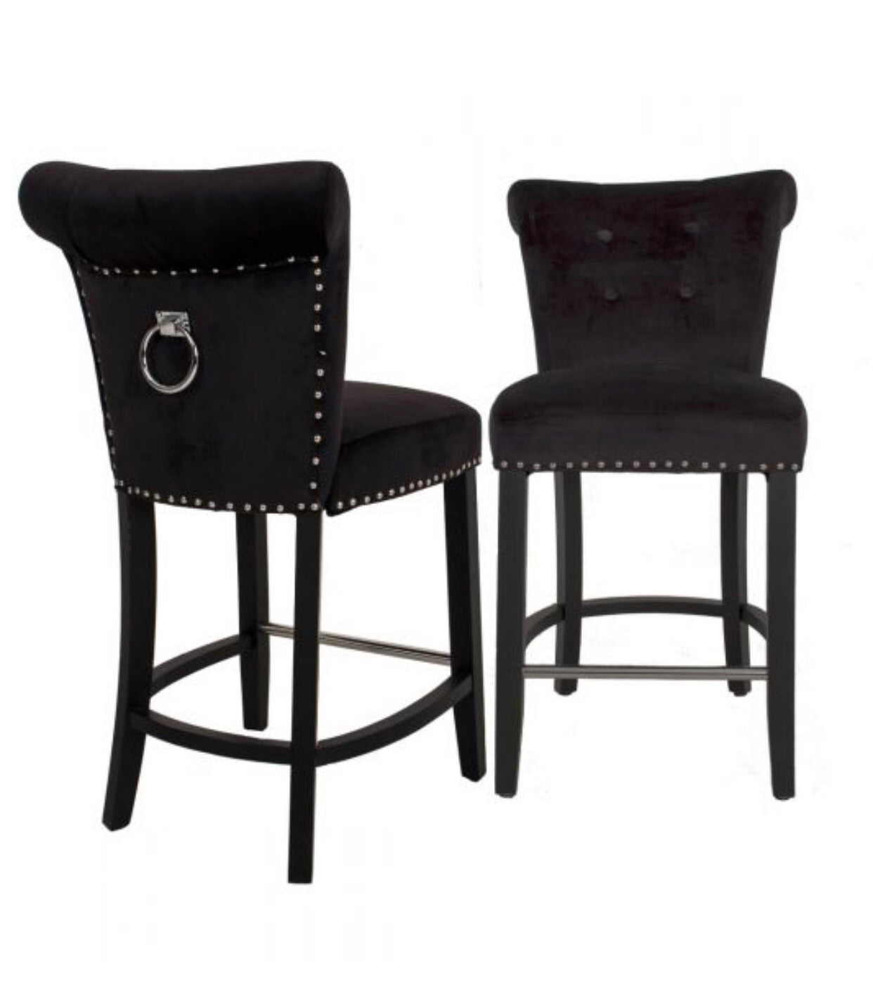 Knocker Bar Stool - Black