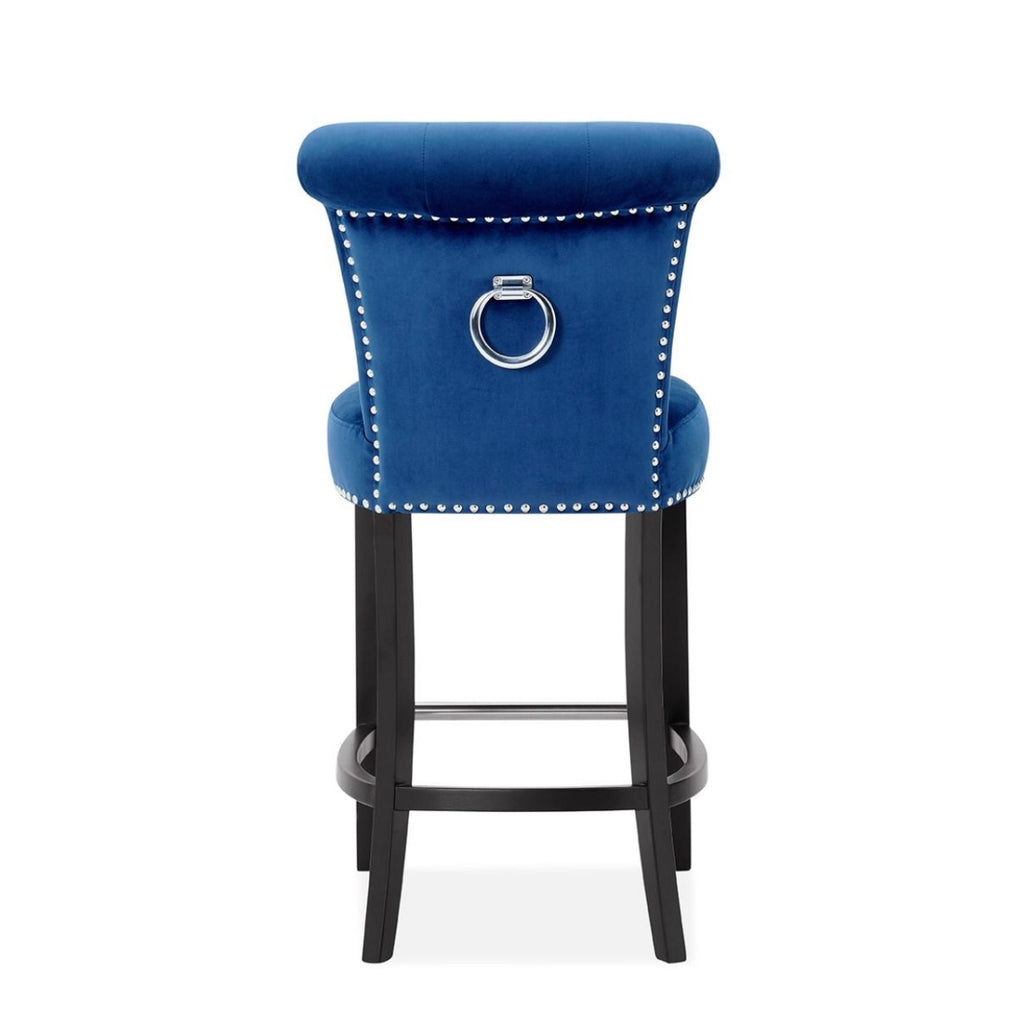 Knocker Bar Stool - Royal Blue