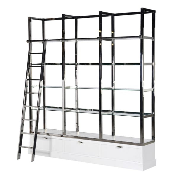 Richmond White and Chrome Display Unit