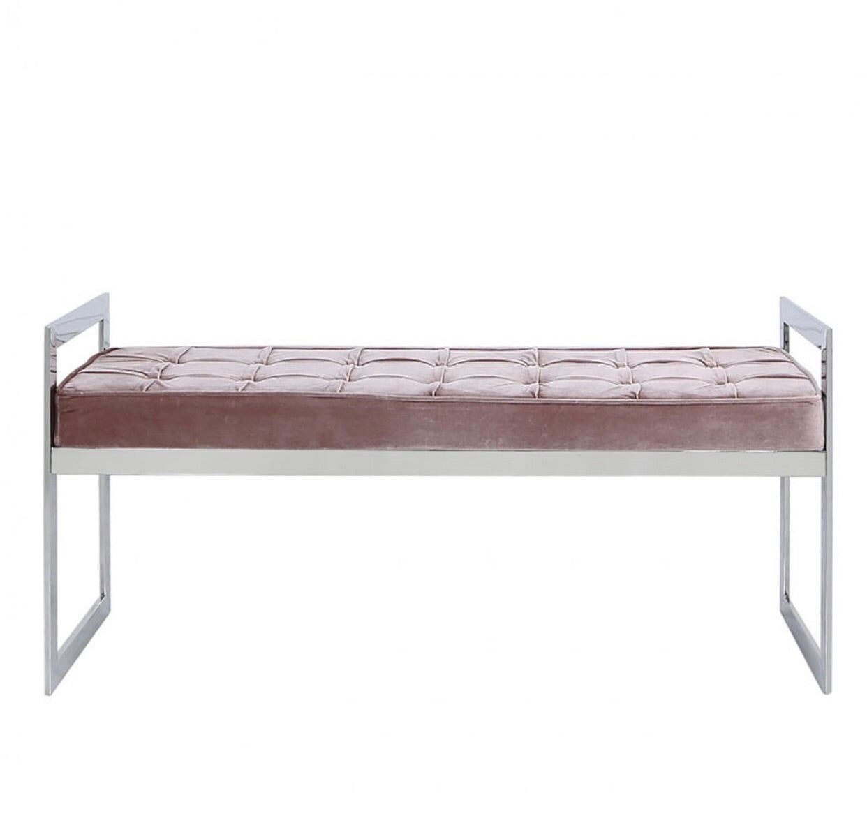 Zen Stainless Steel Bench - Blush Pink