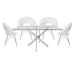 Nevada Dining Table with 4 Orb Chairs