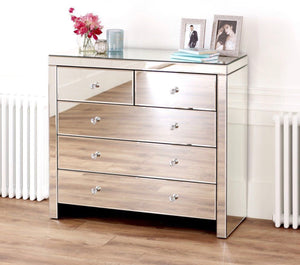 Hollywood Chest of Drawers - Mirrored