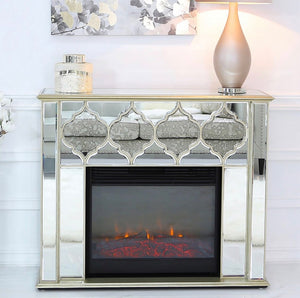 Morocco Gold Mirror Fire Surround