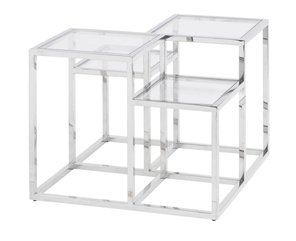 Gatsby Silver Square Framed Side Table