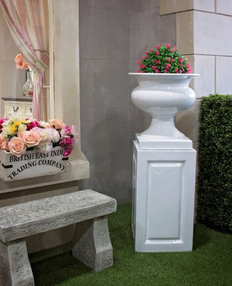 White Urn and Base